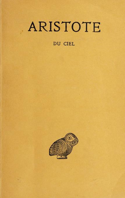 Du Ciel by Aristotle